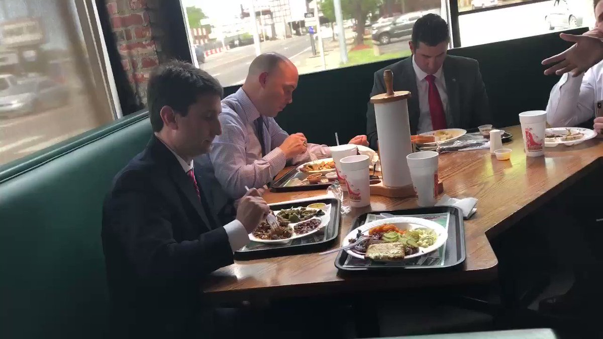 This afternoon, after the vote to take $ from public ed, we ended up sitting by Rep. Justin Lafferty, Rep. Micah Van Huss, and other state reps at a restaurant in North Nashville. We sought to speak about our concerns since they have continued to ignore folks in the TN Capitol.