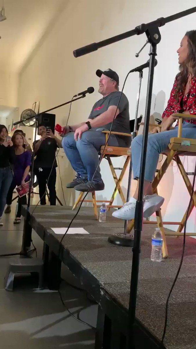 🎵🥓🥞🥓🥓🥞🎵 @TheJohnDiMaggio singing #BaconPancakes at the #AdventureTime series DVD release event!