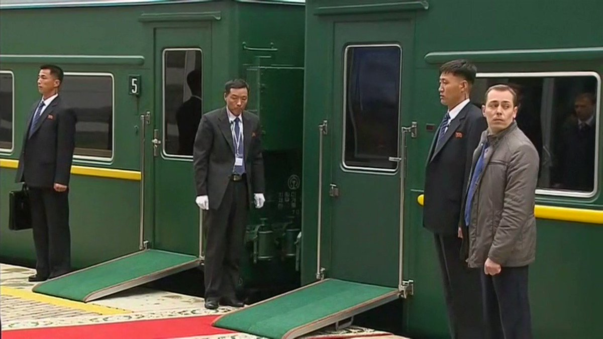 BREAKING VIDEO: Kim Jong Un has arrived in Vladivostok, Russia, for a summit with Russias President Putin -