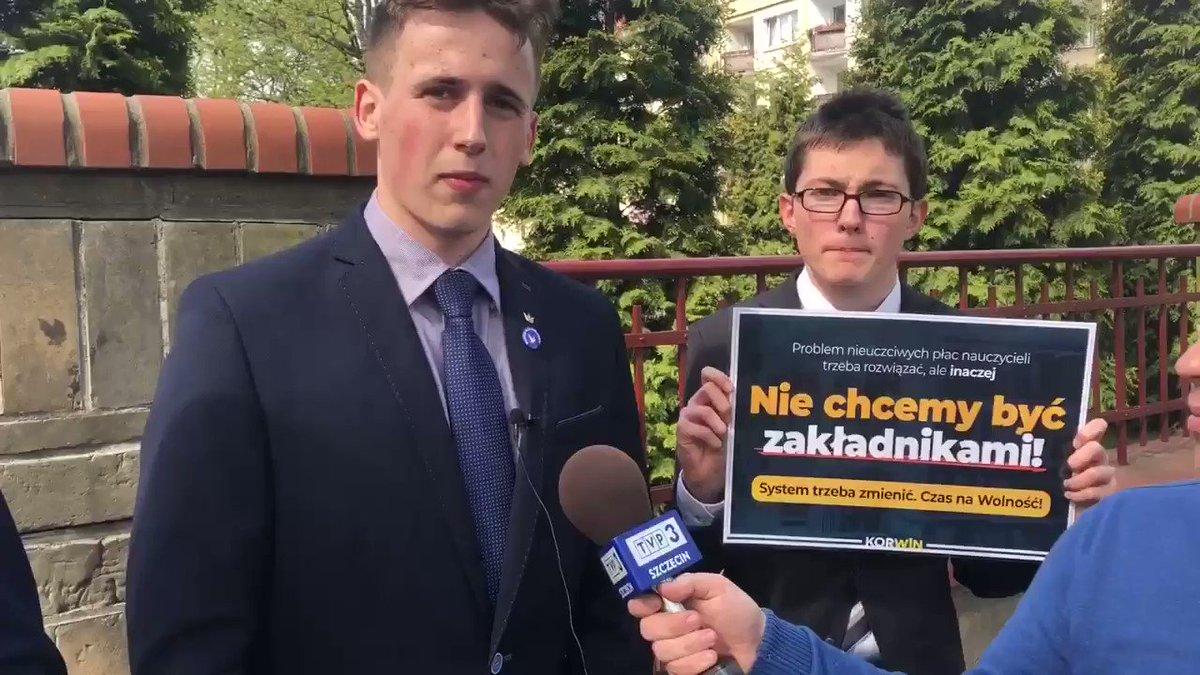 """""""Strajkujący nauczyciele nie powinni brać nas jako zakładników, ponieważ my jesteśmy najmniej winni"""" - mówi tegoroczny maturzysta z najlepszego w Polsce XIIILO w #Szczecin."""