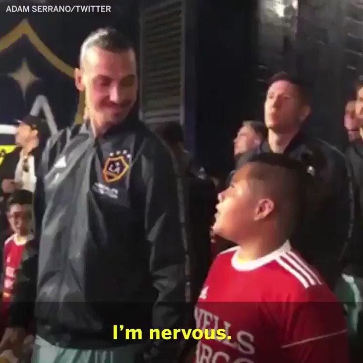 Zlatan had some advice for this fan ❤️  (via @AdamSerrano)