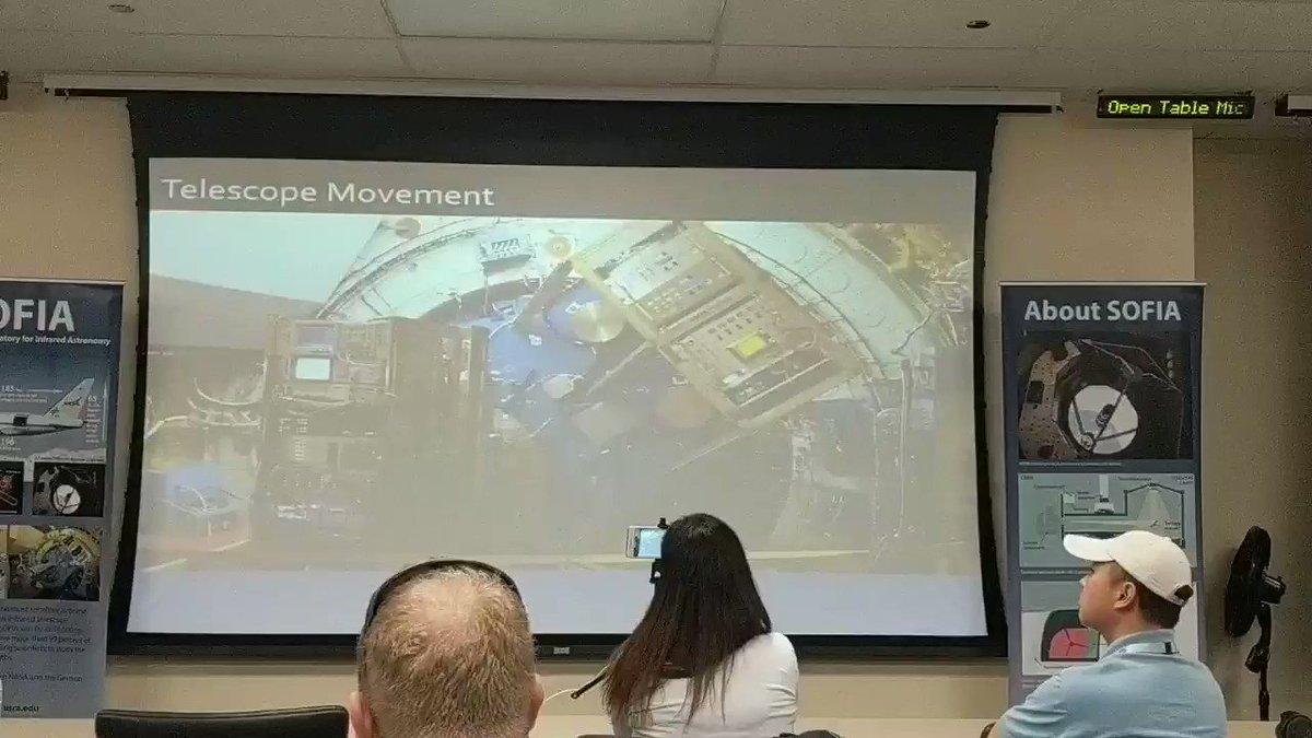 David McAllister explains operation of the SOFIA Telescope while it is being prepared for its mission tonight #NASASocial