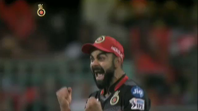 When victory was in sight and the wickets were tumbling, you get these reactions from the @RCBTweets skipper 🔥  #RCBvKXIP