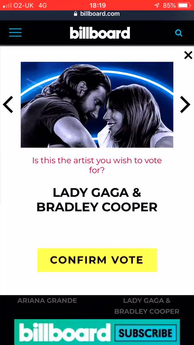 Me everyday.   #BBMAsAchievement Lady Gaga & Bradley Cooper