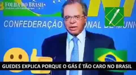 Paulo Guedes passando na sua tela para explicar como o livre mercado fará você pagar menos pelo gás. :)