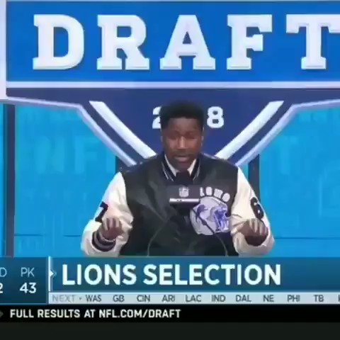 Happy Draft Day Lions Fans! @nateburleson #OnePride #NFLDraft