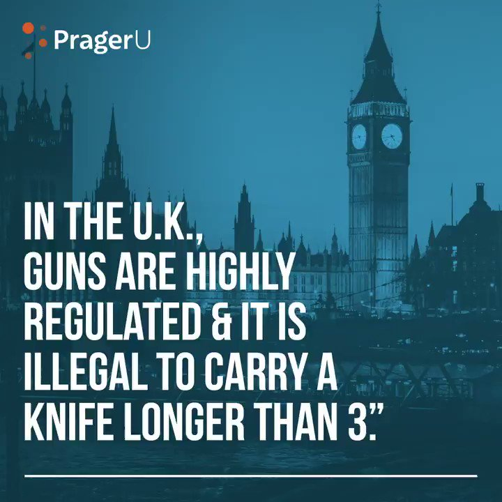 Image for the Tweet beginning: Facts:  In the U.K, guns are