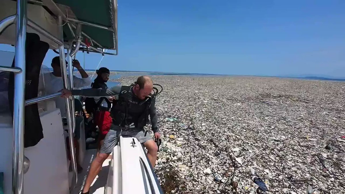 Sea Of Plastic' Discovered In The Caribbean Stretches Miles And Is Choking Wildlife  THIS IS NOT OK! THIS IS DISGUSTING!  Retweet!