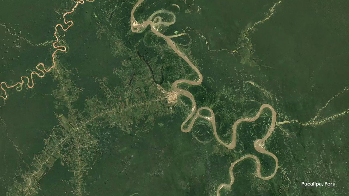 Image for the Tweet beginning: The new Google Earth Timelapse