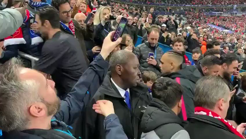 Neymar appeared to smack someone in the face on the way to collect his runners-up medal last night after having a smartphone shoved in his direction by the man in question who was insulting him.