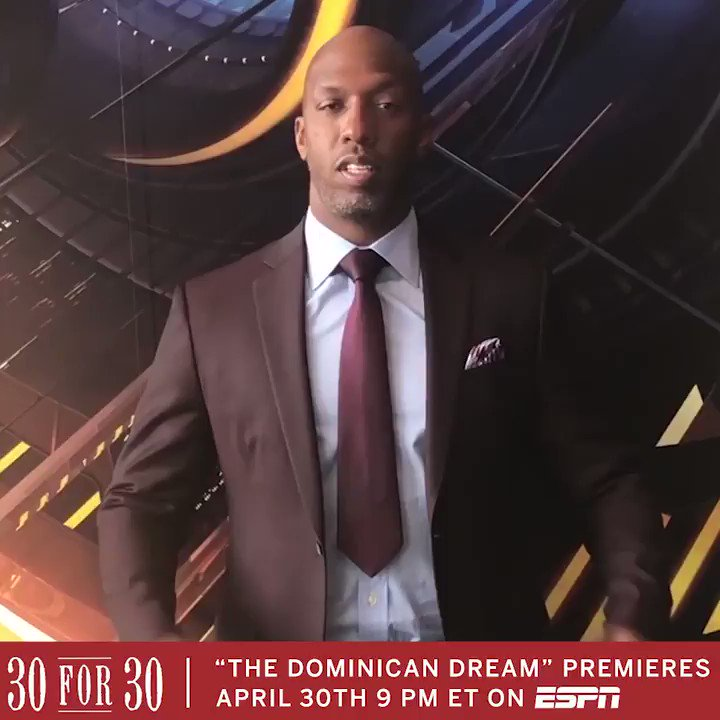 """Felipe Lopez is one of the toughest opponents I played against growing up. I'm honored to be a part of this @30for30 """"The Dominican Dream."""""""