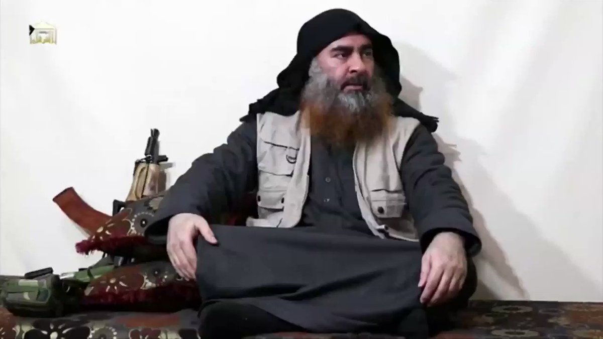 Islamic State published on Monday video that appears to show IS leader Abu Bakr al-Baghdadi in his first such appearance in five years. @JonathanLanday  @ReutersTV @Reuters