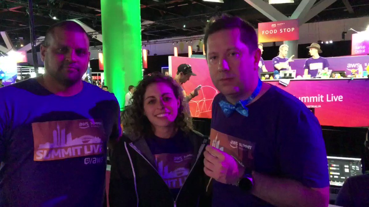 .@kneekey23, @pstanski & @dsphenom invite you to watch http://twitch.tv/aws this week to stay up on the latest news from #AWSSummit Sydney! 🇦🇺
