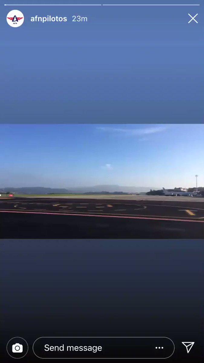 Tienes este vídeo q lo grabó AFN desde la zona aire del aeropuerto de Coruña