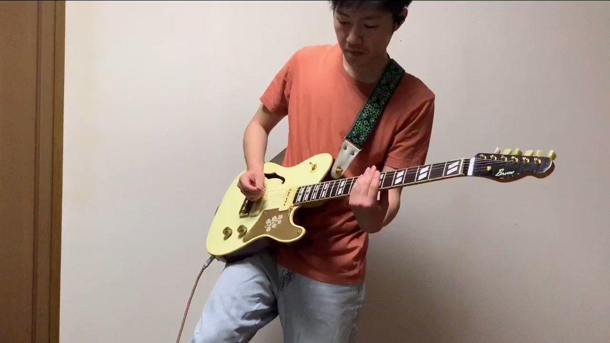 PUFFY『渚にまつわるエトセトラ』を弾きました就職活動を始める時スーツ買うお金が無くて機材を売ったんですがそのタイミングでギターのモチベーションも下がっていた時に改めてギターのかっこよさを教えてくれた曲だったりします。あれから4年が経つけど未だにハリソンフォードに出会えてません