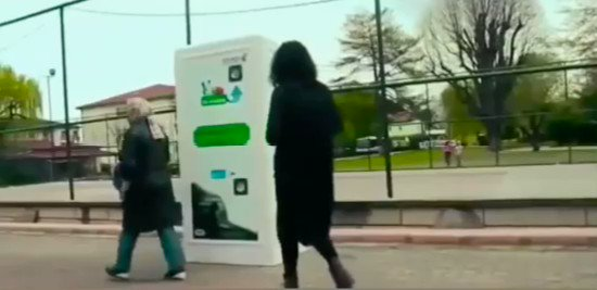 How about this recycling machine in Turkey? When you recycle plastic bottles it dispenses food for stray dogs. Pretty cool.