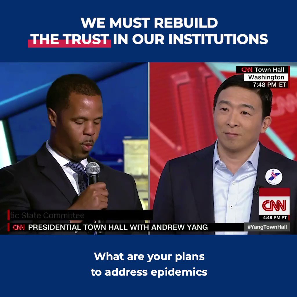 We are in an era of the collapse of institutional trust. We don't trust our government, we don't trust the media, we don't trust the schools, we don't trust doctors. There is a massive rebuilding of trust that must be earned with many Americans.