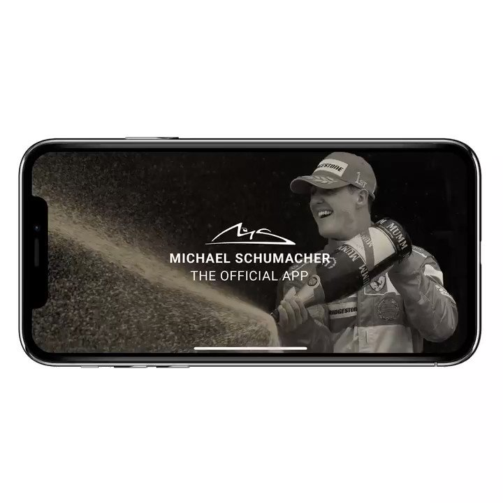 Schumacher. The Official App.  Now with many more features and Michael's helmets in augmented reality for you to share! Update available in the App Store from today. #SchumacherAPP #Michael50 #TeamMichael