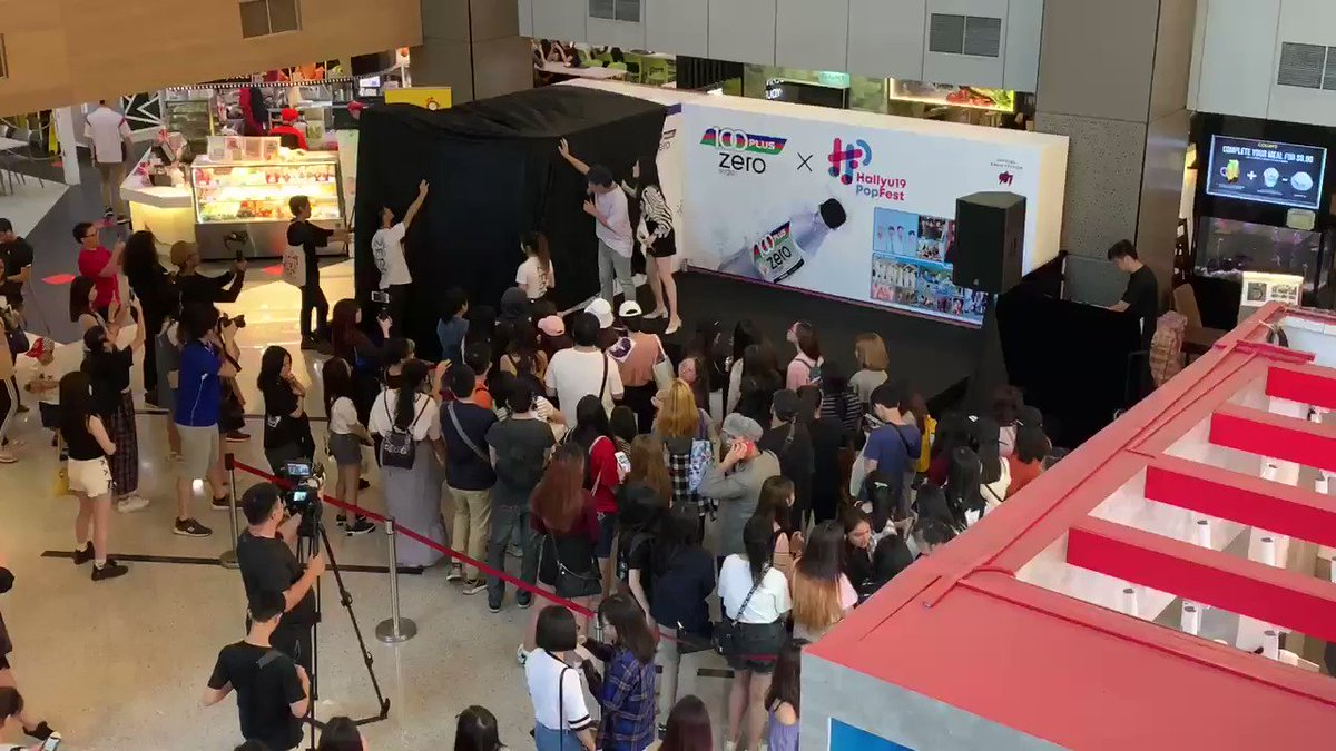 [#HallyuPopFest2019] The special #100PlusZero noraebang is unveiled! It's open to all so come with your friends, sing a song & win some prizes!! @ Cineleisure, B1 (beside the food court)