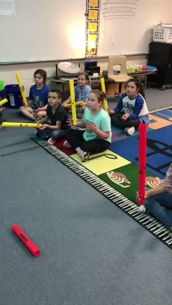Third graders learned the Imperial March and played on @TheBoomwhackers They played by reading the music!  Not just being told who should play when!  So proud of them! @ElemRob #Robinsonisd #risdres #MayThe4thBeWithYou