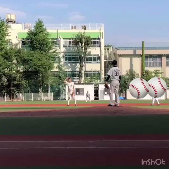 今日は野球! リリーフで1イニングだけ投げました! ノーアウト満塁の場面でショートゴロ、三振、レフトフライで自責点ゼロに抑えました! いい感じに変化球が決まってよかったです! 動画は応援に駆けつけてくださった先輩が撮ってくれました✨ #昴野球部