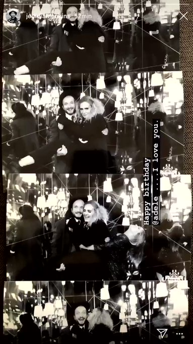 Adele s friend Jedidiah Jenkins is wishing her an happy birthday in his Instagram s story