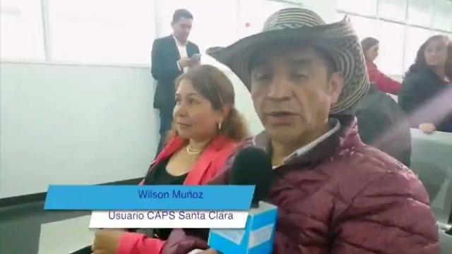 'Aquí uno llega cuando le dicen y lo atienden en el momento preciso. Los servicios son muy completos', destaca Wilson Muñoz sobre la atención en el CAPS Santa Clara, donde ha tenido citas con especialistas sin desplazarse hasta hospitales #CuentasConSalud