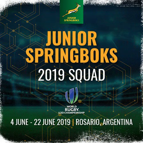 Ladies and Gentlemen, your #JuniorBoks squad to take on the world at @WorldRugby u20 Championship next month in Argentina. Congratulations to all selected! #BuildingBoks