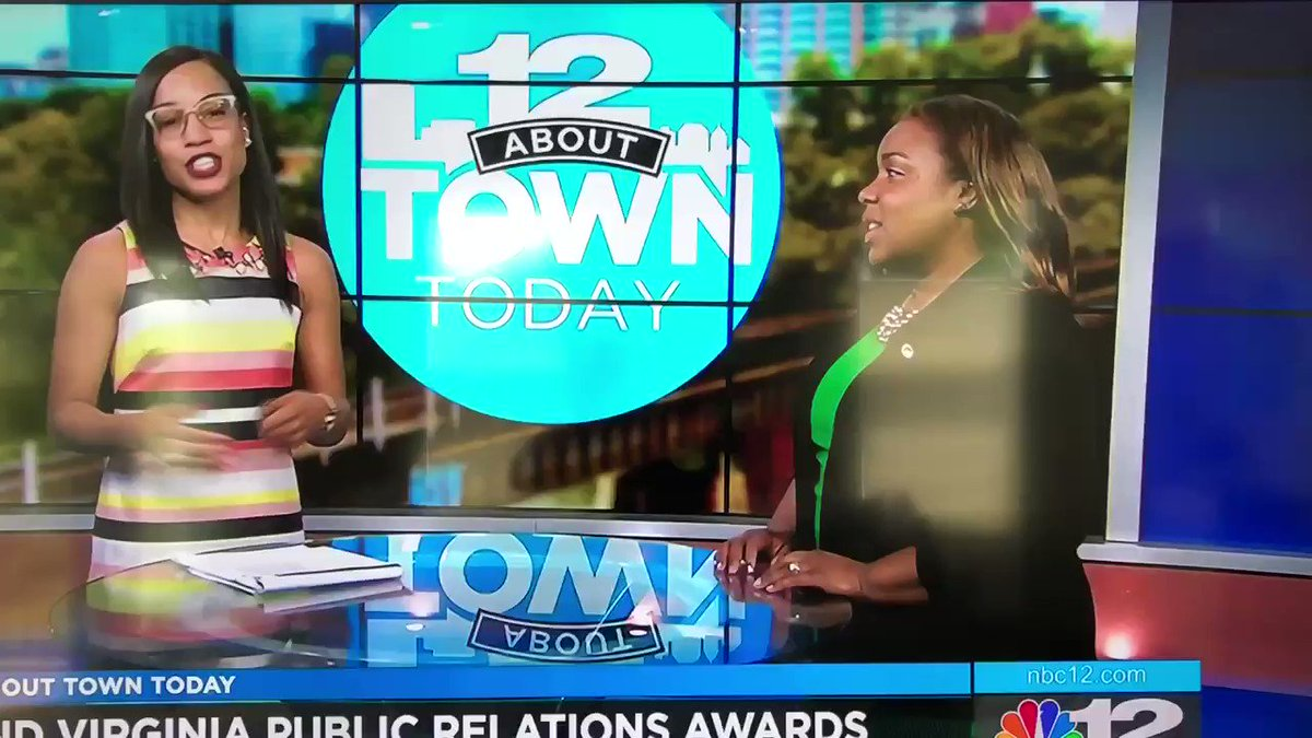 Image for the Tweet beginning: .@TJarmPR on @NBC12 promoting #VirginiaPRAwards