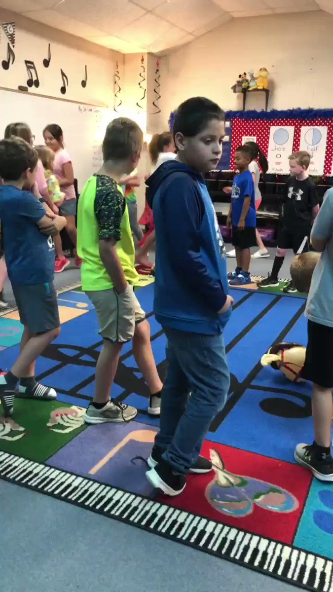 """Ss took turns using stick horses purchased by @robinson_ef to demonstrate AABA form of """"The Wild Horseman"""" by Schumann! @ElemRob #Robinsonisd #risdres"""