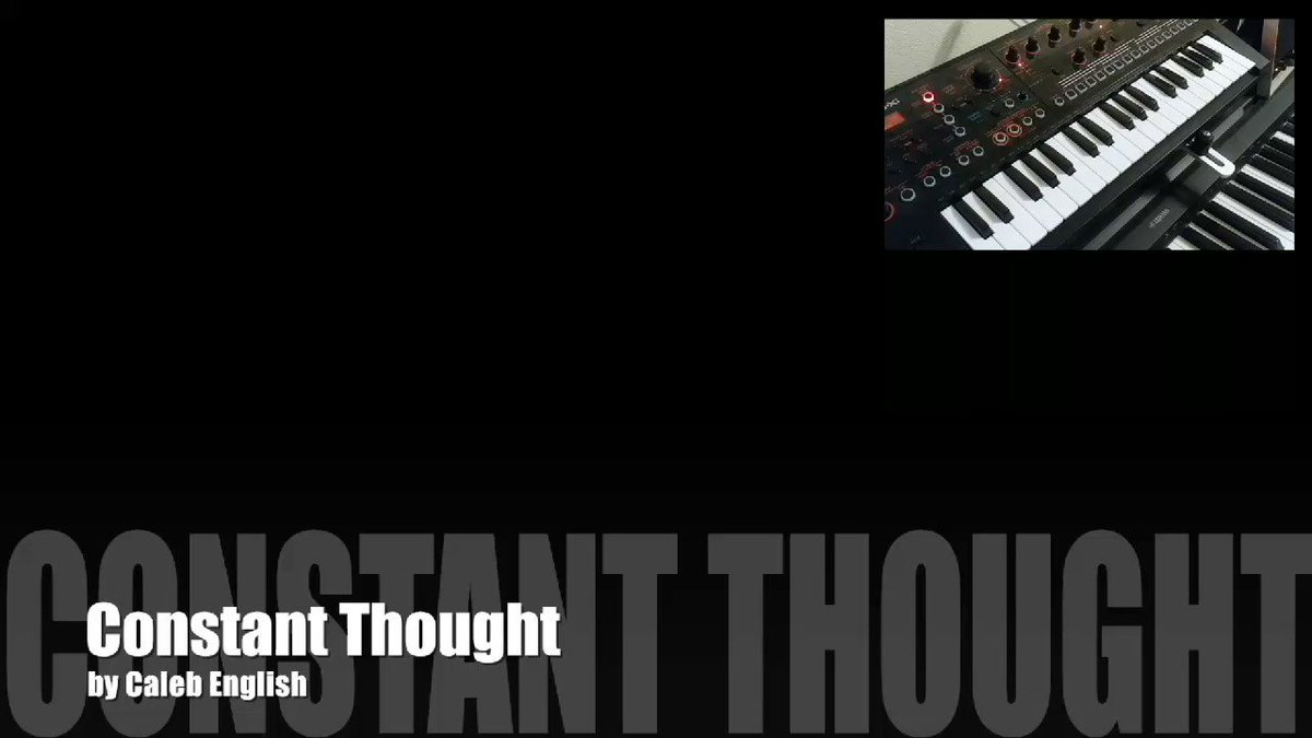 My first #videocollage using my #roland #jdxi #synthesizer #keyboard  Constant Thought by Caleb English