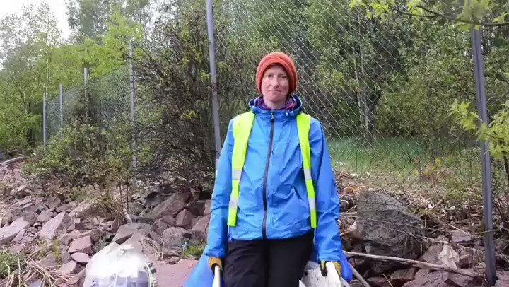 """Fra stygg til veldig  pen med stolthet, strand- og elverydding   👉  """"Lager du det pent så holder folk det pent"""" sier Kirsten fra @drammen_kommune"""