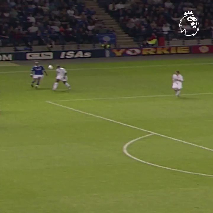 FORGOTTEN GOAL: 16 years ago today Leicester's Lilian Nalis Yeboah-ed the arsehole out of this volley vs Leeds. Pick that out.