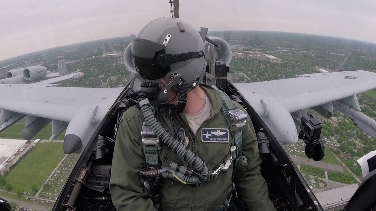 This is what the fly-over for today's #INDYCARGP  looks like in the @122fighterwing  cockpit. 👀
