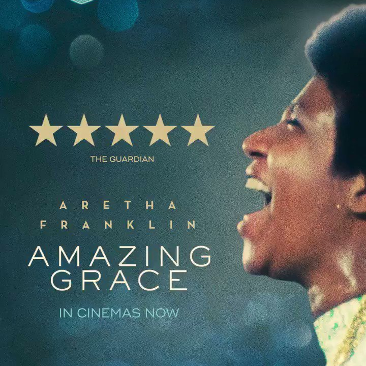 UK fans! Dont miss the film critics are calling extraordinary and an oceanic swell of euphoria and joy. The soul-shaking concert film #AmazingGrace is in cinemas now: amazinggracefilm.co.uk