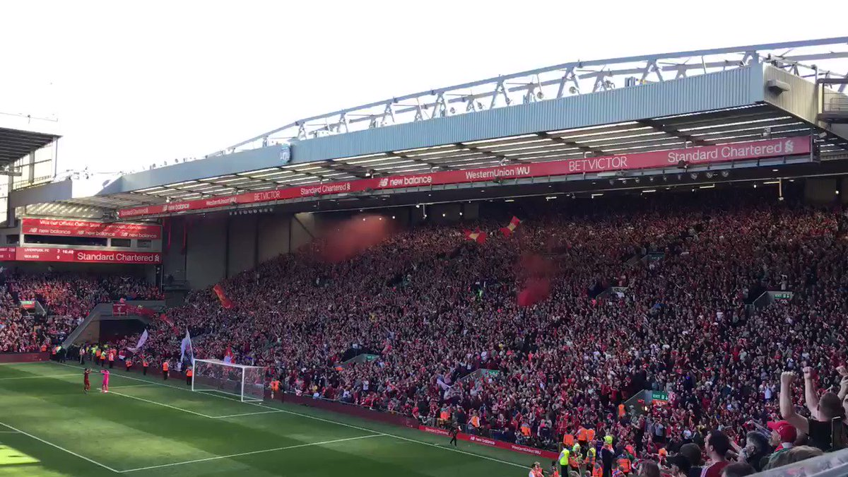 How Anfield responded at the final whistle. Listen to that. #LFC