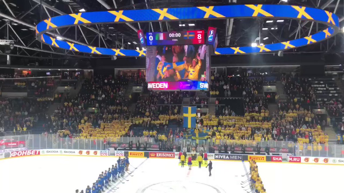 🇸🇪Sing it loud @Trekronorse fans. This is your win. #IIHFWorlds
