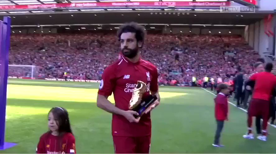 This is great. Mo Salah's daughter wanted to score a goal at Anfield after her dad won the Golden Boot