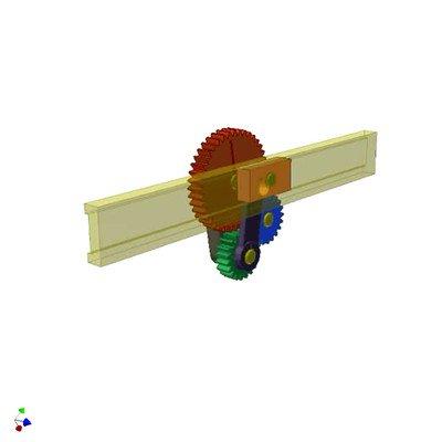 Slider-Crank Mechanism With Satellite Gear
