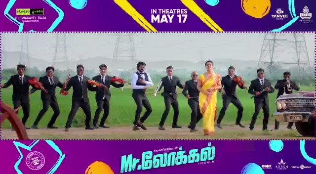 The excitement to watch this pair on screen is increasing every moment. Just 4 days to go !!  #MrLocalOnMay17  @Siva_Kartikeyan @hiphoptamizha #Nayanthara @rajeshmdirector   @actorsathish @SF2_official @malikstreams @thinkmusicindia @DoneChannel1