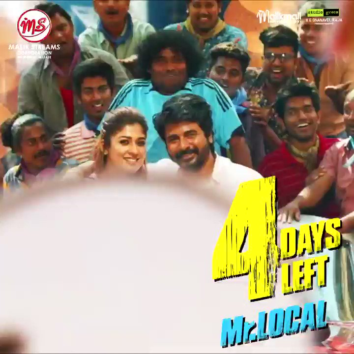 Only 4 days left for the worldwide release of #MrLocal on May 17th! . #sivakarthikeyan #sk #nayanthara #ladysuperstar #malikstreams #msc #mrlocal #hiphoptamizha #rajeshm #siva #sk #nayan #ladysuperstar #tamilcinema