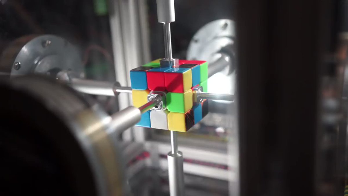 MIT robot solves Rubiks Cube in around a third of a second – so fast that our slowcoach brains cant see whats going on unless we watch it in ultra-slow motion. youtube.com/watch?v=OZu9gj…