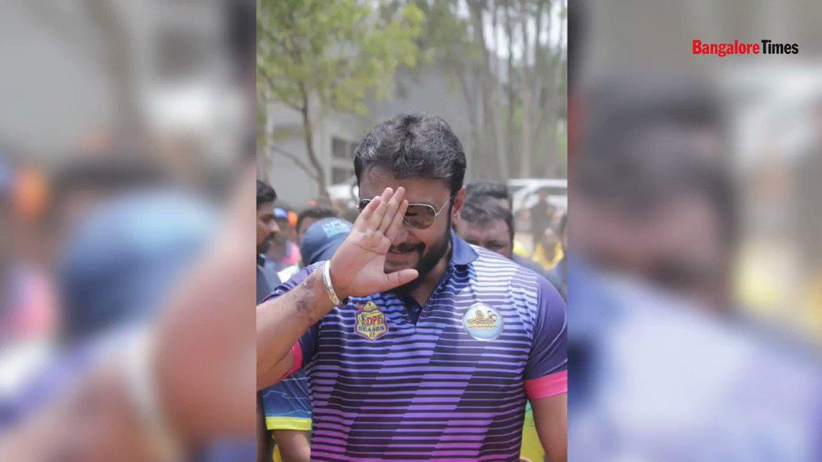 Namma Challenging Star @dasadarshan is a cricket rockstar!  @Dcompany171 @DarshanFanz  @Darshanfans171