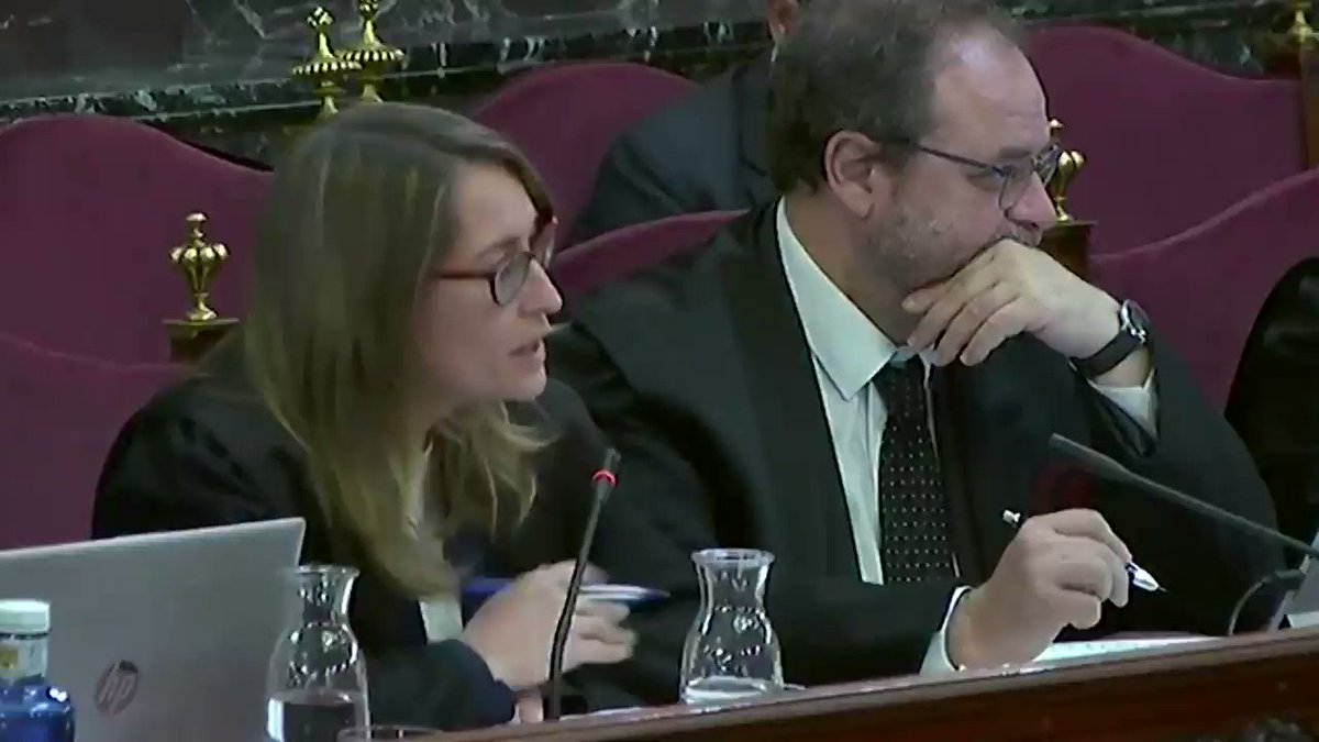 """Former Catalan MP @yeyaboya on the September 20, 2017 demonstrations in which @jcuixart participated: """"At no point did I see, hear, or read a call to impede the searches that were taking place."""" #DemocracyOnTrial"""