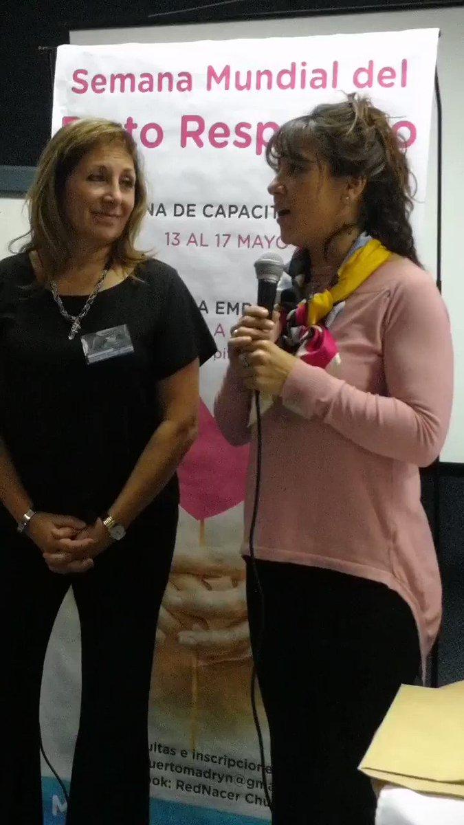 La Diputada @CHECHU0405 participando de la Semana del Parto Respetado, junto a la Diputada Cristina De Luca,en el Hospital Isola de #Madryn. En la última sesión legislativa, impulsamos la declaración de interés,y hoy visitamos a los profesionales q llevan adelante la actividad 🤰
