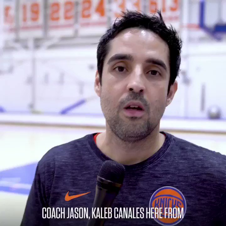 A special message for our Coach of the Year, Jason Curry, before he heads to Chicago... 🤩 @jrnba @bigapplebball