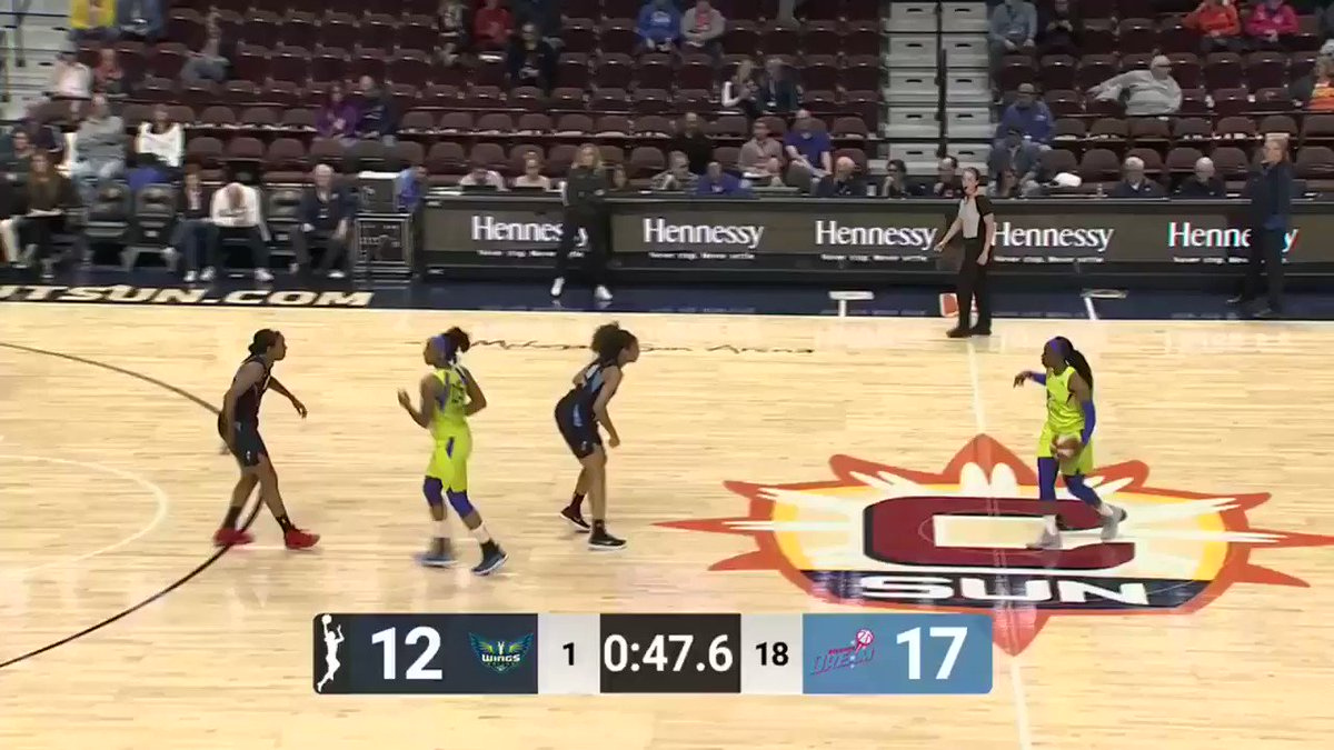 Pull up, bucket 🏀 @Arike_O's first points for the @DallasWings! #WNBA