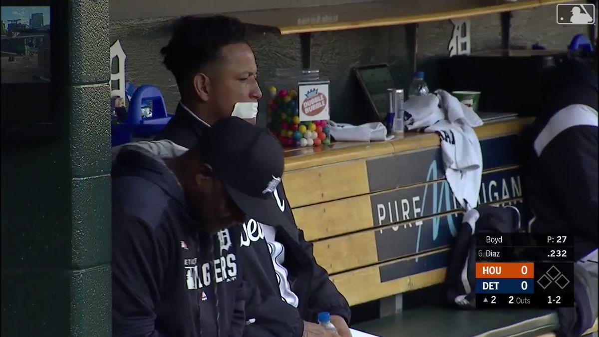 Miguel Cabrera figured out an ideal way to avoid future ejections