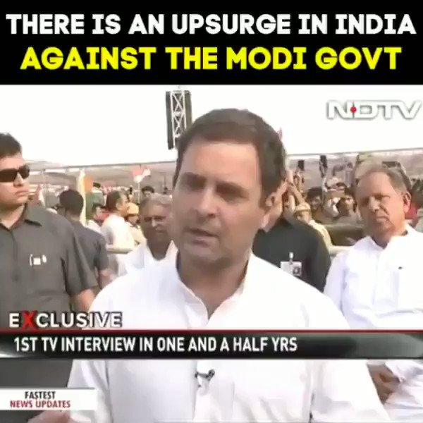 #RahulBadlegaIndia  There is an upsurge in India against Modi govt.
