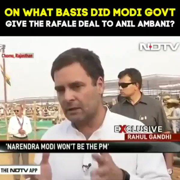 On what basis did Modi govt. give the #rafaledeal to Anil ambani? #RahulBadlegaIndia